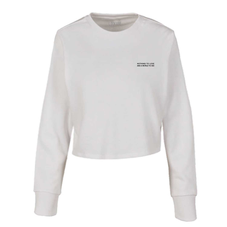 Crop Sweater - Nothing to lose