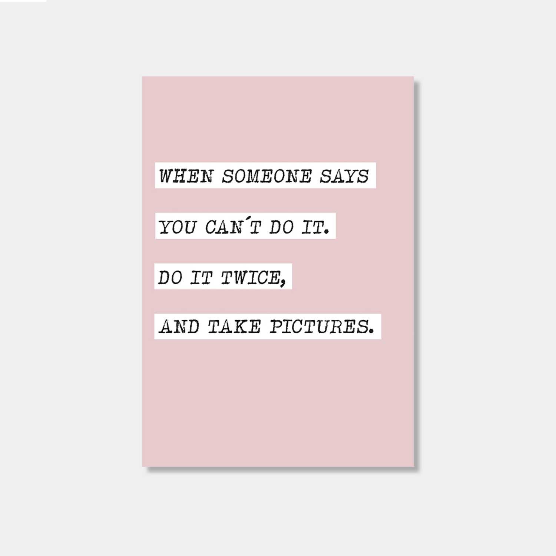 Postkarte - Do it twice