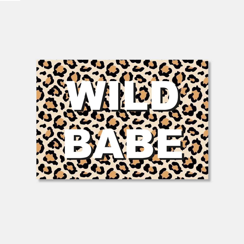 Postkarte - Wild babe