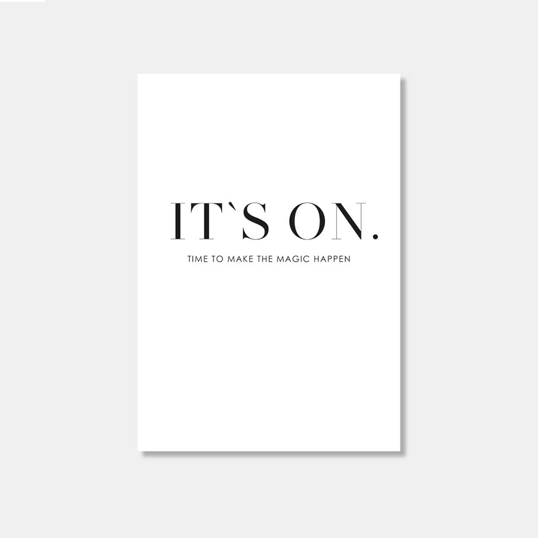 Postkarte - It's on
